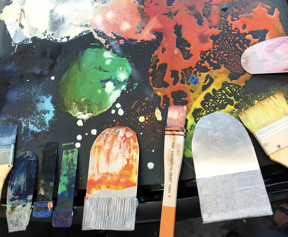 Encaustic Flashing Brush How-To