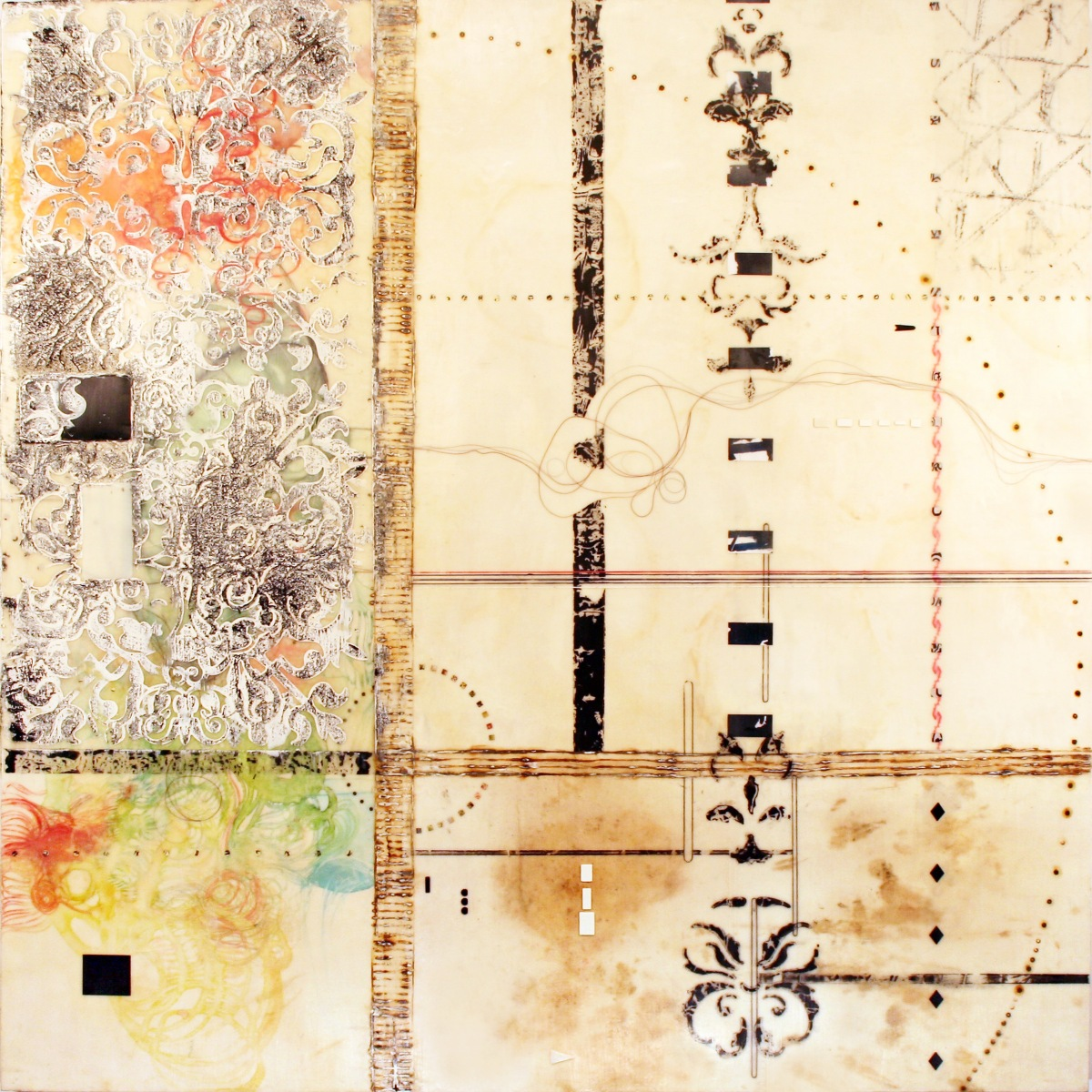 Workshop Highlight: A Bonus Philadelphia Encaustic Workshop #2: Pattern